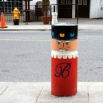 Doorman / Bollard outside the Briton House