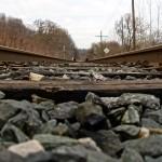 Railway along the edge of Cottonwood Flats