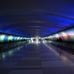 Light Tunnel at the Detroit airport