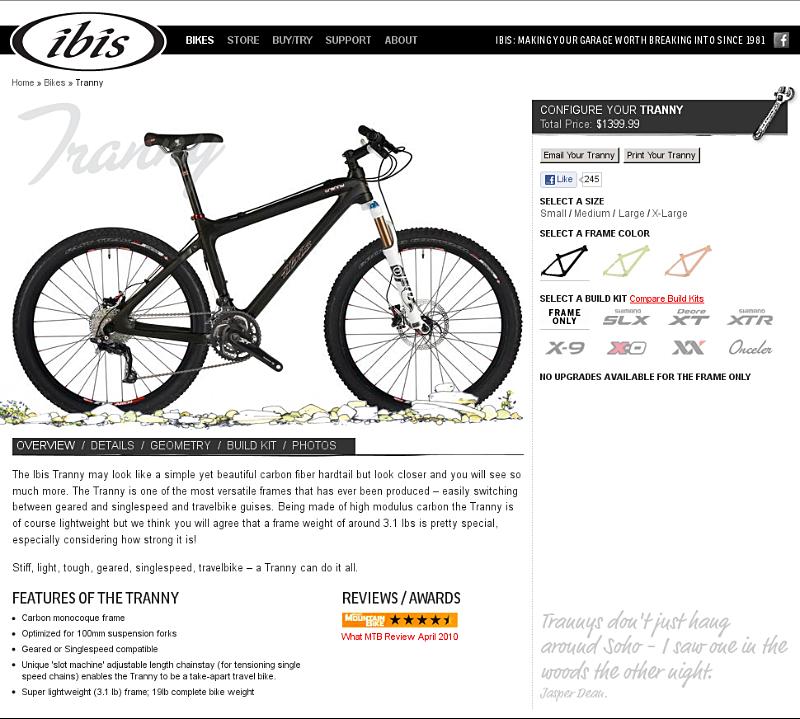 Ibis Tranny bike