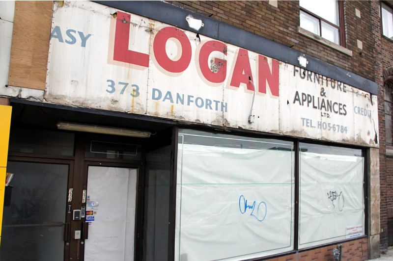 Logan Furniture & Appliances ghost sign on Danforth Ave.