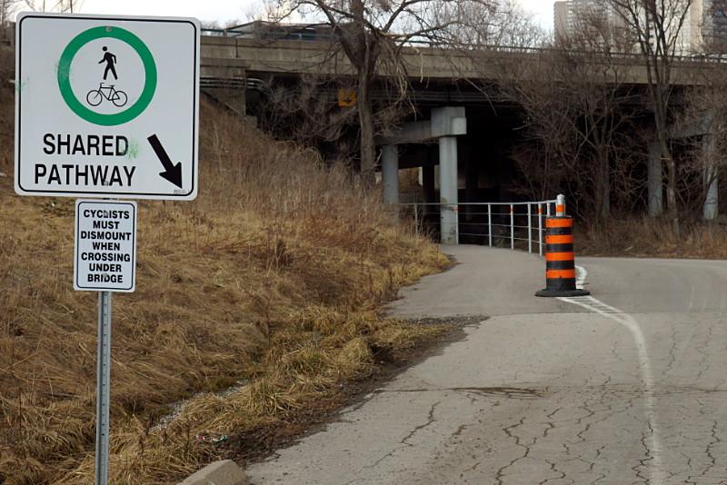 Go away, westbound cyclists.
