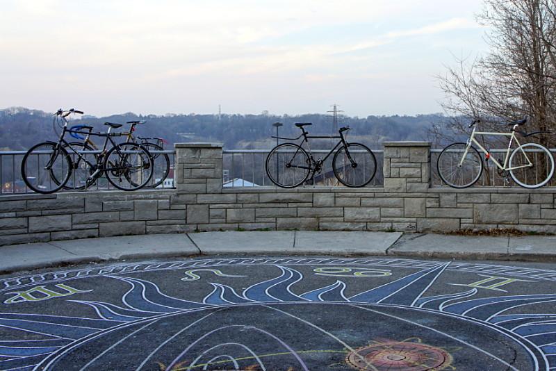 Hipster bike parking