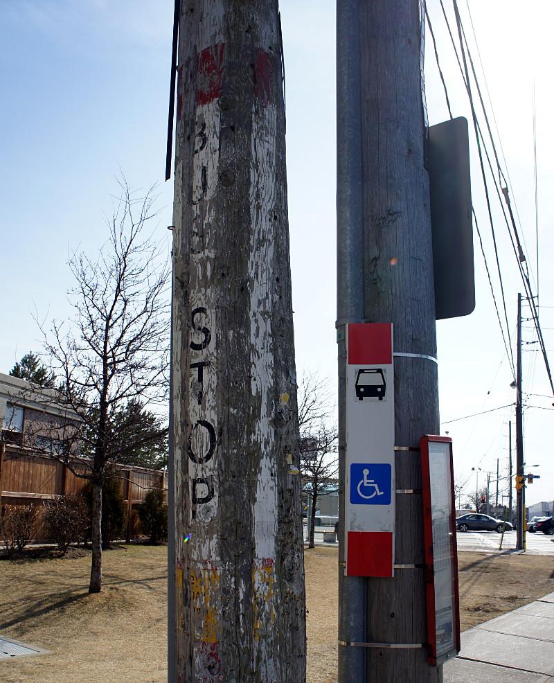 TTC ghost sign on Sloane at Eglinton