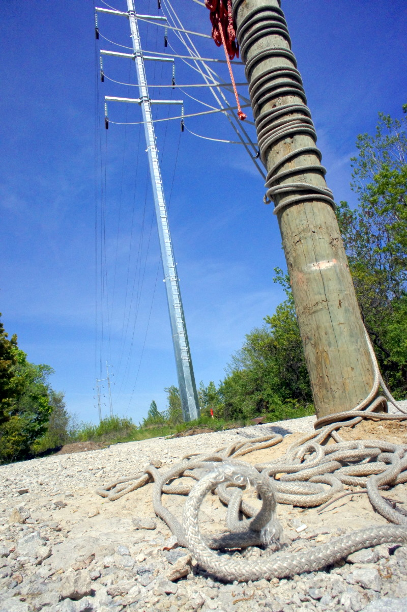 Hydro wires to nowhere