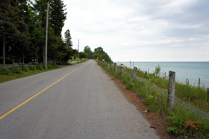 Lakeshore Road outside Newcastle, Ontario.