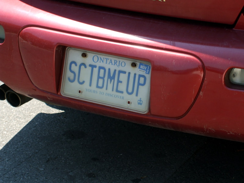 Licence plate: SCTBMEUP