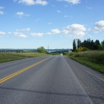 One more hill to go to Rice Lake