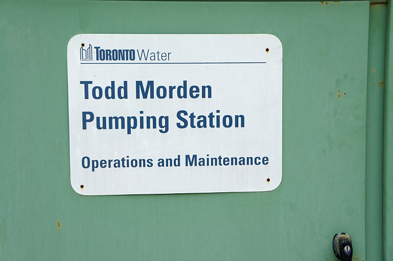 Todd Morden pumping station sign