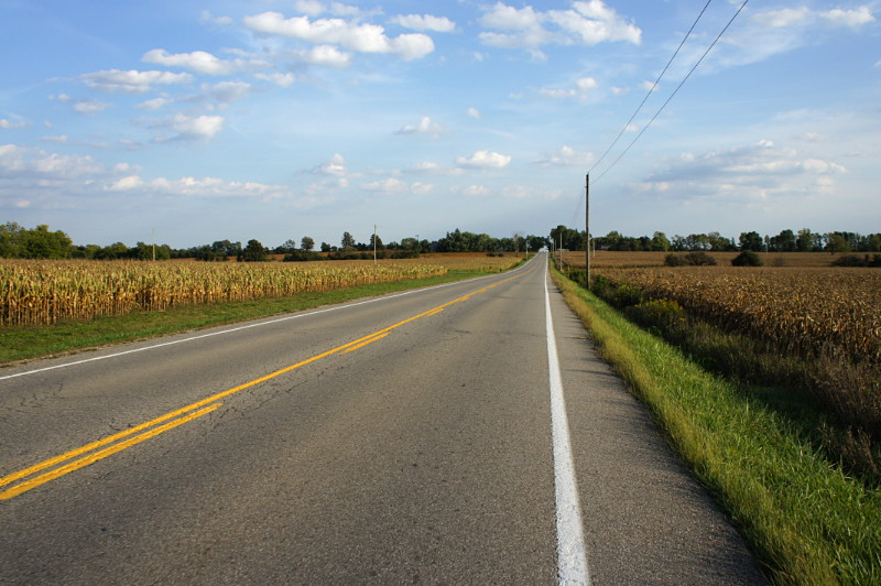 The road from Guelph to Kitchener