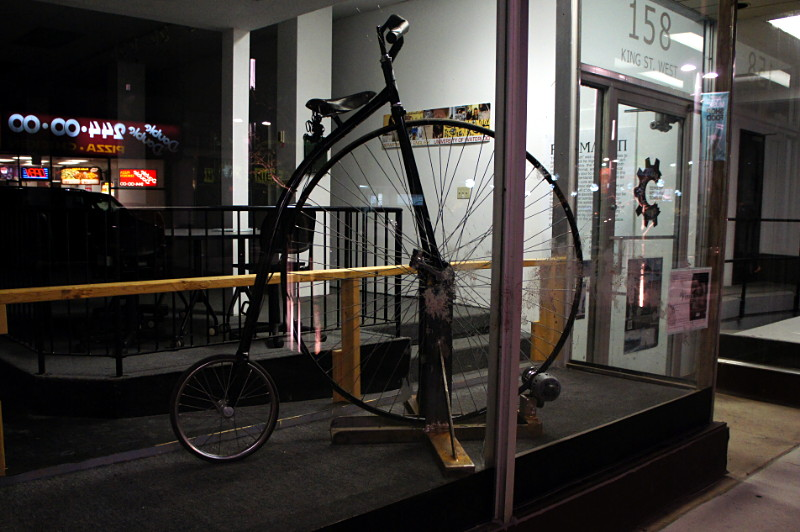 Penny-farthing on display in Kitchener