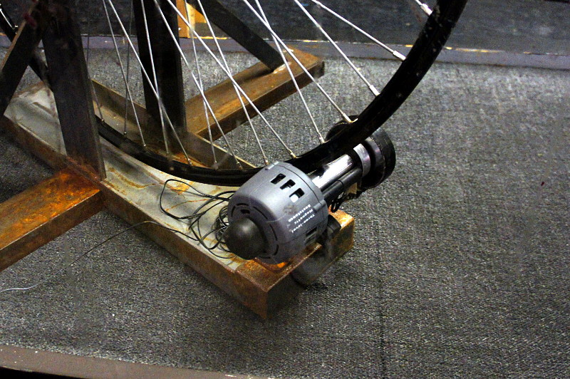 Penny-farthing on a mag trainer