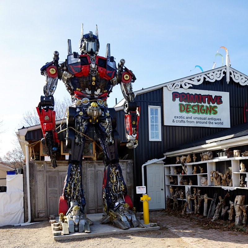 Optimus Prime stands guard