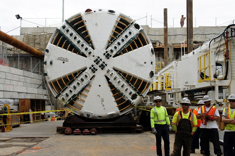 Head-on view of Lea, the next TBM to be launched