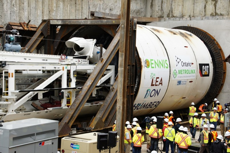 Tunnel Boring Machine gets started on the Eglinton Crosstown LRT