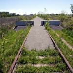 About 1 kilometre west of Keene Road, the improved trail takes over.
