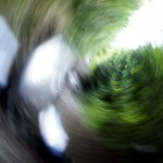 This is what happens when you drop the camera mid-shot in order to grab the handlebars.