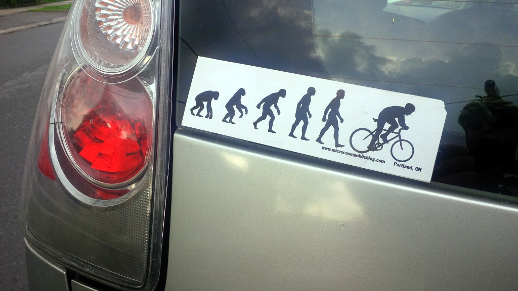 Evolution bumper sticker